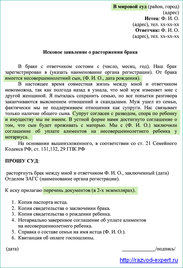 kakie-dokumenty-nuzhny-dlya-razvoda-cherez-sud-ili-zags-esli-est-nesovershennoletnie-deti-2